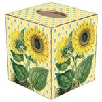 Sunflower on Yellow Provencial Tissue Box Cover