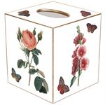 Pink Hydrangea, Rose, Hollyhock and Hyacinth Tissue Box Cover (Two Colors)