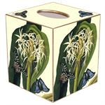 Lilies with Butterfly Tissue Box Cover