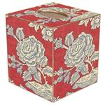 Red & Blue Provencial Tissue Box Cover