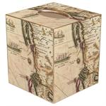 Antique New England Map Tissue Box Cover