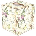 French Watercolor Tissue Box Covers
