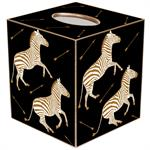 Zebra Trot Tissue Box Cover