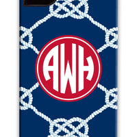 Nautical Knot Navy Phone Case