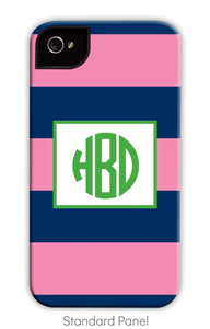 Rugby Navy & Pink Phone Case