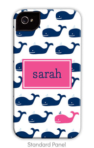 Whale Navy Repeat Phone Case