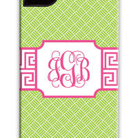 Greek Key Band Pink & Green Phone Case