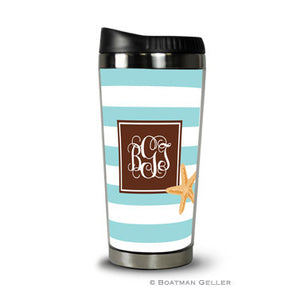 Stripe Starfish Travel Tumbler