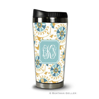 Suzani Gold Travel Tumbler