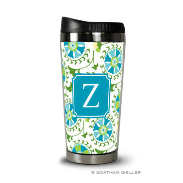 Suzani Teal Travel Tumbler