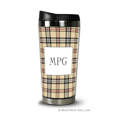 Town Plaid Travel Tumbler
