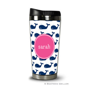 Whale Repeat Navy Travel Tumbler