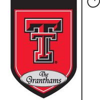 Monogrammed Texas Tech Garden Flag