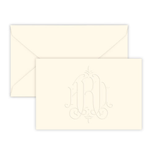 Heartfield Monogram Horizontal Embossed Gift Enclosure Card