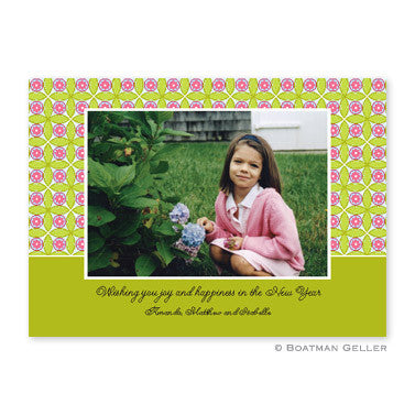 Tile Pink & Green Photocard