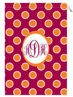 Monogrammed VA Tech Laundry Bag for Her