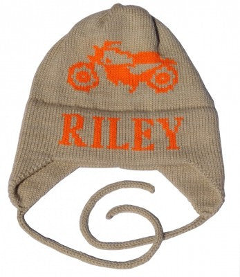 Vintage Motorcycle Hat with Earflaps