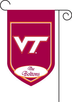 Monogrammed Virginia Tech Garden Flag