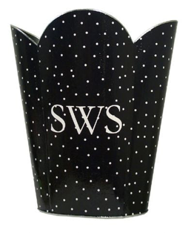 Black & White Dot Waste Basket