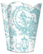 Aqua Toile Waste Basket