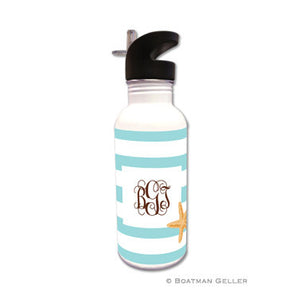Stripe Starfish Water Bottle