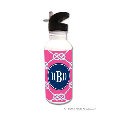 Nautical Knot Raspberry Water Bottle