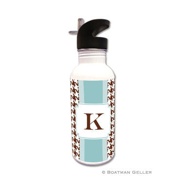 Alex Houndstooth Chocolate Water Bottle