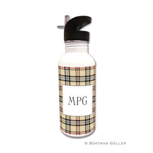 Town Plaid Water Bottle