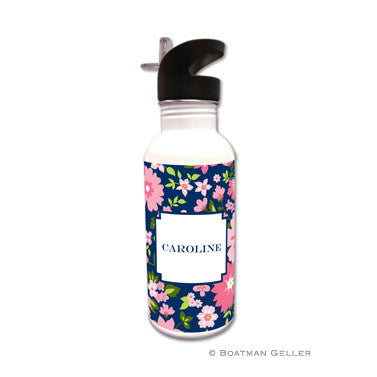 Caroline Floral Pink Water Bottle