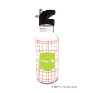 Miller Check Pink & Green  Water Bottle