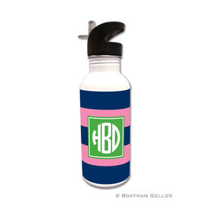 Rugby Navy & Pink Water Bottle