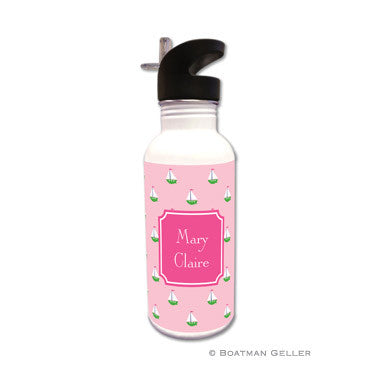 Little Sailboat Pink Water Bottle