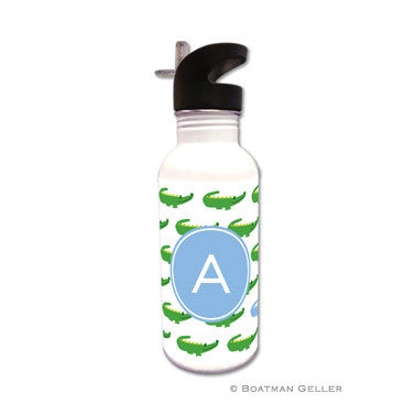 Alligator Repeat Blue Water Bottle