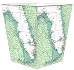 Florida Nautical Chart Waste Basket