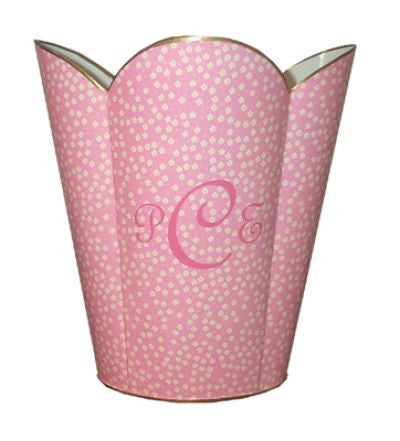 Pink & Yellow Floral Waste Basket
