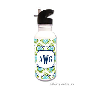 Pineapple Repeat Teal Water Bottle