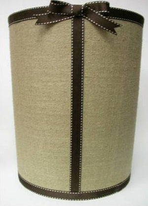 Natural Linen Waste Basket
