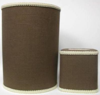 Espresso Linen Tissue Box Cover
