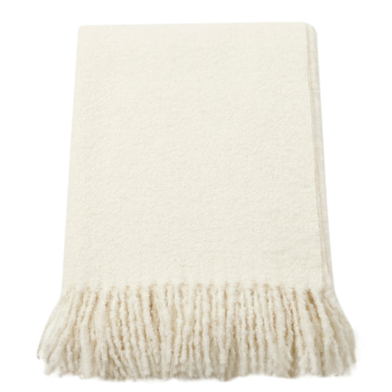 Winter White Wool Throw