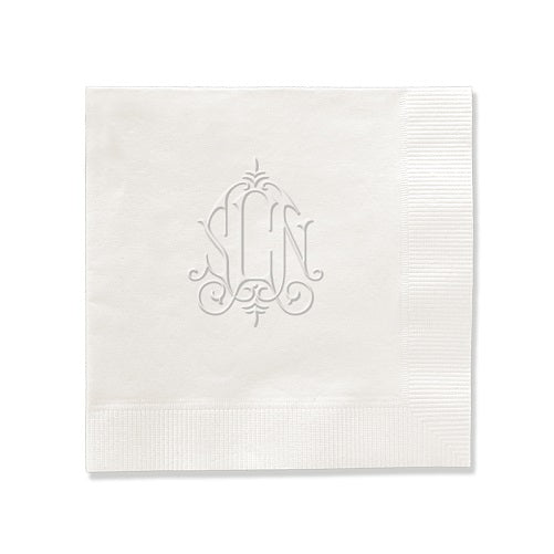 Whitlock Monogram Napkin - Embossed