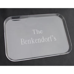 Monogrammed Acrylic Rectangle Serving Tray