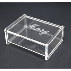 Monogrammed Acrylic Catchall Box (3 sizes)