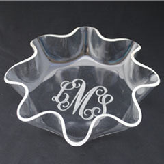 Monogrammed Acrylic Sunflower Bowls