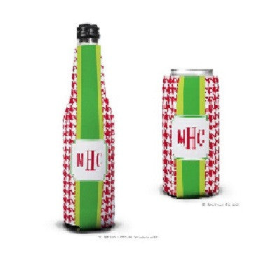 Alex Houndstooth Red Koozies