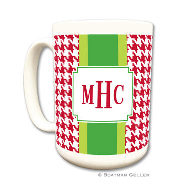 Alex Houndstooth Red Coffee Mug