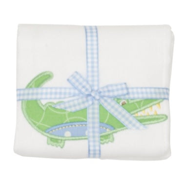 Alligator Applique Burp Pad