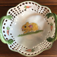 Hand Painted Bunny Basket 195