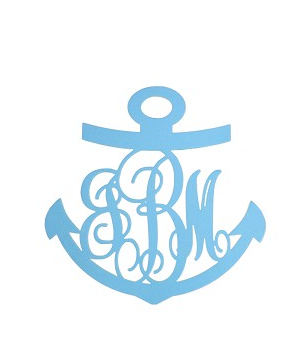 Anchor Monogrammed Door Hanger