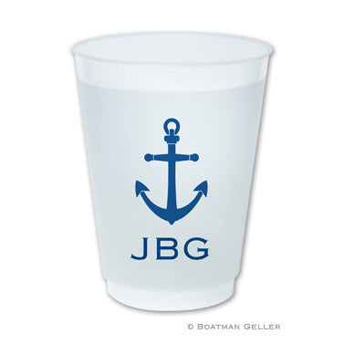 Anchor Monogrammed Frost Flex Cups