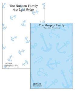 Personalized Anchors Away Notepad Collection